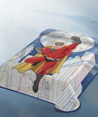 Παιδική Βελουτέ Κουβέρτα Μονή BELPLA Heroe 324 Ισπανίας