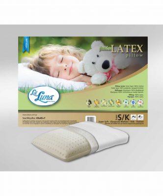 Παιδικό Μαξιλάρι Ύπνου The JUNIOR LATEX  Pillow (45x65x7) της La Luna