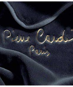 Μονή Βελουτέ Κουβέρτα Ισπανίας NANCY 545/50 της PIERRE CARDIN - BLACK