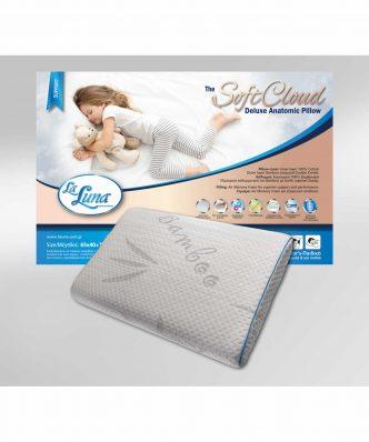 Ανατομικό Μαξιλάρι The SoftCloud Deluxe anatomic Pillow (65x40+7) της La Luna