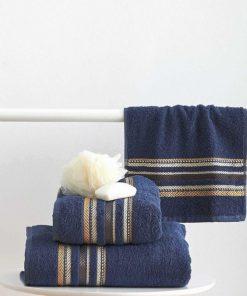 Σετ (3τμχ) Πετσέτες Μπάνιου TIMOTHY της Sb Home NAVY
