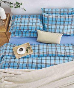 Παπλωματοθήκη Μονή MARCO της Sb Home (160x240) BLUE