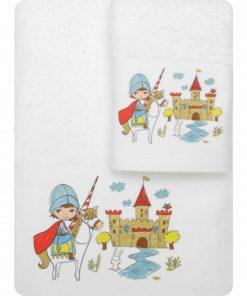 Σετ (2τμχ) Παιδικές Πετσέτες ΙΠΠΟΤΗΣ της της BOREA - ΛΕΥΚΟ