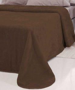 Κουβέρτα Βελουτέ Μονή TYROL της Sb Home (160x240) BROWN