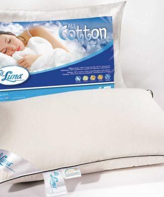 Μαξιλάρι Ύπνου με βαμβάκι All Cotton Pillow (50x70) της La Luna