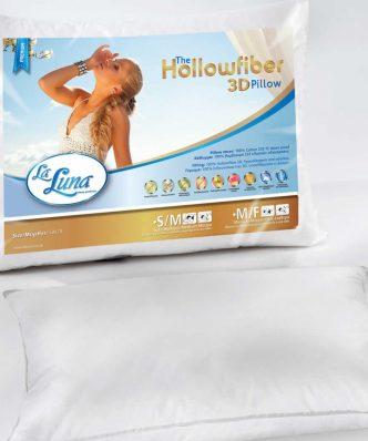 Μαξιλάρι Ύπνου HOLLOWFIBER 3D MEDIUM (50x70) της La Luna