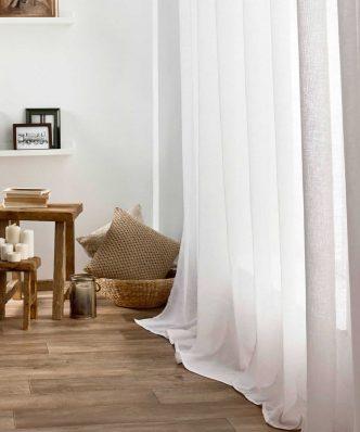 Κουρτίνα με Τρούκς COMBE 502/05 της GOFIS (140x280) OFF WHITE