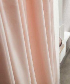 Βελούδινη Κουρτίνα με Τρούκς WINTER 711/25 της GOFIS (140x280) POWDER PINK