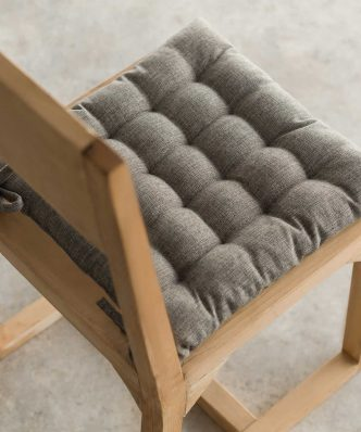 Μαξιλάρι Καρέκλας Hygg 213/14 της GOFIS Home (40x40) ΣΚΟΥΡΟ ΓΚΡΙ