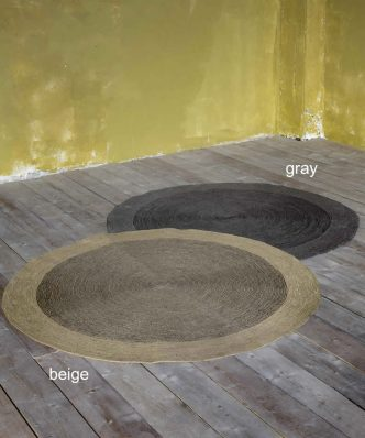 Στρογγυλό Χαλί BERGREN της NIMA HOME (Δ: 120 cm) GRAY