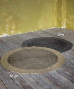 Στρογγυλό Χαλί BERGREN της NIMA HOME (Δ: 90 cm) GRAY