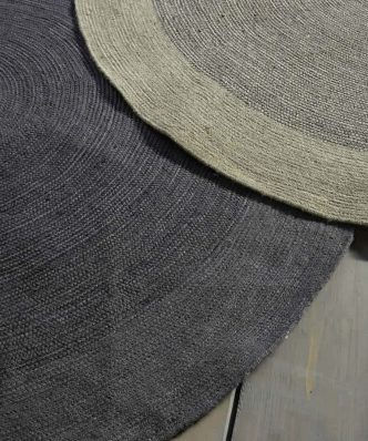 Στρογγυλό Χαλί BERGREN της NIMA HOME (Δ: 150 cm) BEIGE