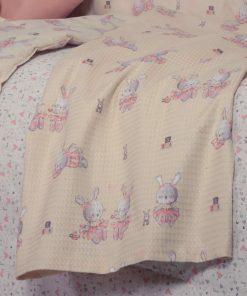 Βρεφική (bebe) Κουβέρτα Αγκαλιάς BUNNY LADIES της NEF-NEF (75x110)