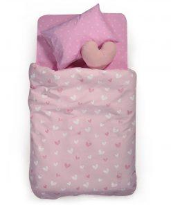 Παιδική Κουβέρτα Πικέ Μονή L'AMOUR της NEF-NEF (160x240) PINK