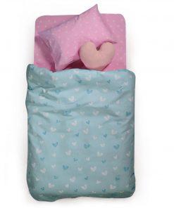Παιδική Κουβέρτα Πικέ Μονή L'AMOUR της NEF-NEF (160x240) AQUA
