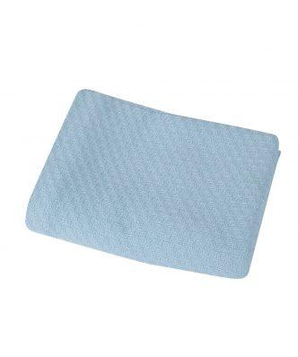 Βρεφική (bebe) Κουβέρτα Αγκαλιάς SMOOTH BLUE της NEF-NEF (80x110)