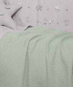 Βρεφική (bebe) Κουβέρτα Αγκαλιάς SMOOTH GREEN της NEF-NEF (80x110)