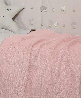 Βρεφική (bebe) Κουβέρτα Αγκαλιάς SMOOTH PINK της NEF-NEF (80x110)
