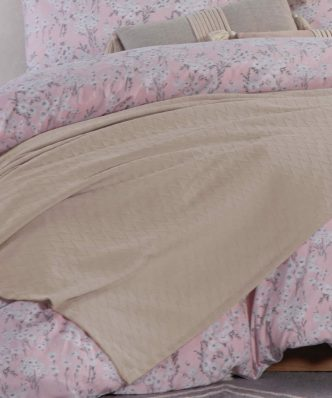 Καλοκαιρινή Κουβέρτα Υπέρδιπλη SUMMER 20 της NEF-NEF (230x240) BEIGE