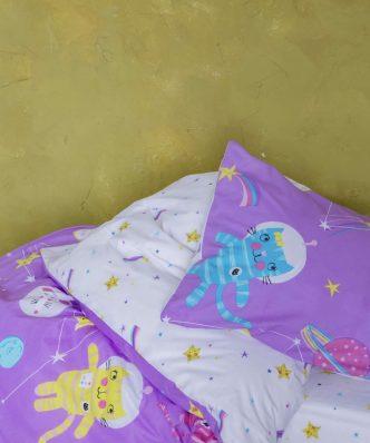 Παιδικό Κουβερλί Μονό COSMIC KITTENS της NIMA HOME (160x240)