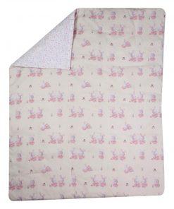 Βρεφικό Κουβερλί Κούνιας BUNNY LADIES της NEF-NEF (110x140)