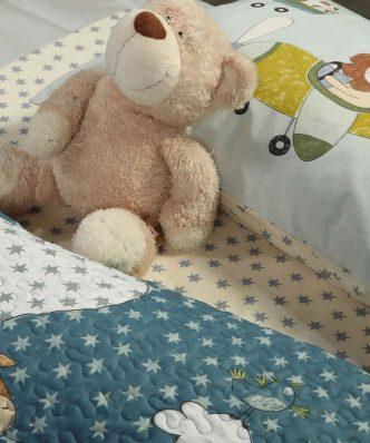 Παιδικό Κουβερλί Μονό SKY GAMES της NEF-NEF (160x220)