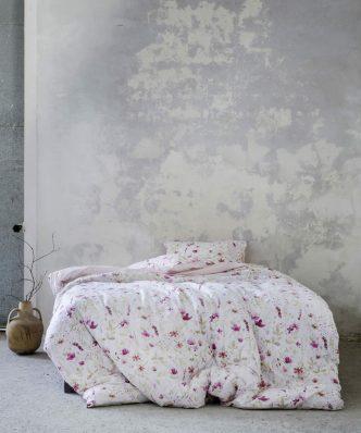 Σετ Σεντόνια Διπλά MANDERLEY της NIMA HOME (220x260) PINK