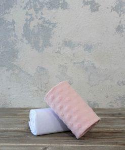 Σετ Βρεφικά (bebe) Σεντόνια Αγκαλιάς POOKIE της NIMA HOME (70x110) PINK