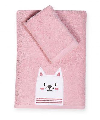 Σετ Βρεφικές (bebe) Πετσέτες (2τμχ) CAT της NEF-NEF (30x50-70x140)