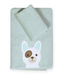 Σετ Βρεφικές (bebe) Πετσέτες (2τμχ) DOG της NEF-NEF (30x50-70x140)