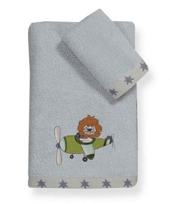 Σετ Παιδικές Πετσέτες Μπάνιου (2τμχ) SKY GAMES της NEF-NEF