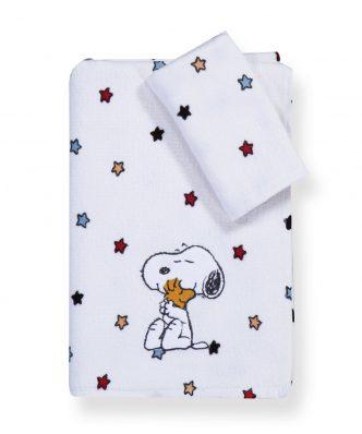 Σετ Παιδικές Πετσέτες Μπάνιου (2τμχ) SNOOPY RAINBOW της NEF-NEF