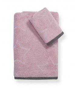 Σετ Εφηβικές Πετσέτες Μπάνιου (2τμχ) SUPER STAR της NEF-NEF PINK