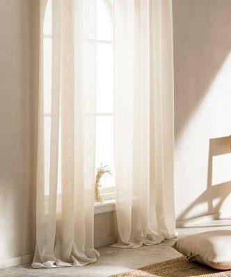 Κουρτίνα με Τρουκς COMBE 502/06 της GOFIS HOME (140x 280) ΛΙΝΟ