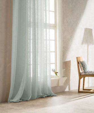Κουρτίνα με Τρέσα COMBE 502B/18 της GOFIS HOME (140x 280) LIME