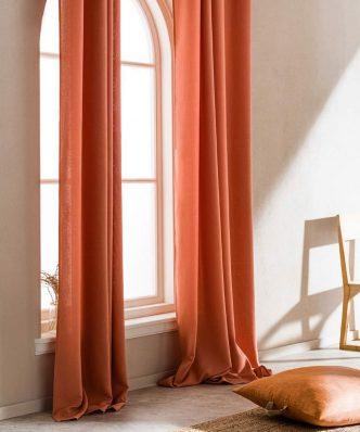 Κουρτίνα με Τρουκς SHINE 661/03 της GOFIS HOME (140x 280) ΠΟΡΤΟΚΑΛΙ