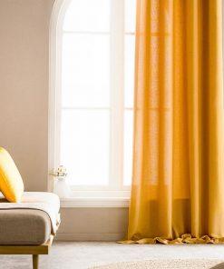 Κουρτίνα με Τρουκς SHINE 661/04 της GOFIS HOME (140x 280) ΩΧΡΑ