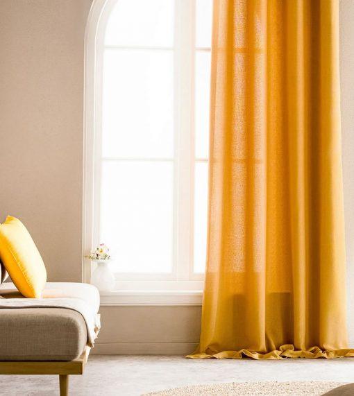 Κουρτίνα με Τρέσα SHINE 661B/04 της GOFIS HOME (140x 280) ΩΧΡΑ