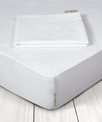 Κατωσέντονο Υπέρδιπλο Premium 2211 της POLO CLUB (160x200+35) ΛΕΥΚΟ με Λάστιχο