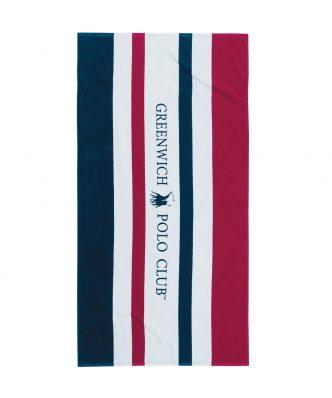 Πετσέτα Θαλάσσης Essential 3512 της POLO CLUB (80x160) ΜΠΛΕ-ΚΟΚΚΙΝΟ-ΛΕΥΚΟ