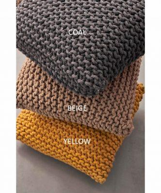 Πουφ Decor Collection DEXTER της Palamaiki (45x45x20) COAL