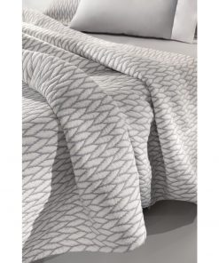 Καλοκαιρινή Κουβέρτα Υπέρδιπλη HARVEY της Guy Laroche (245x260) SILVER