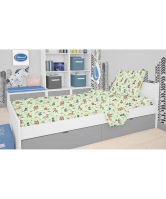 Βρεφικό (bebe) Πάπλωμα Κούνιας Ελαφάκι 116 της DIMcol (120x160) Green