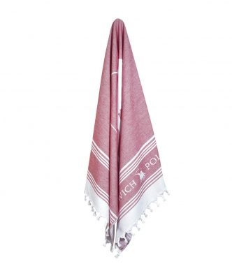 Πετσέτα Θαλάσσης Essential 3525 της POLO CLUB (80x180) ΚΟΚΚΙΝΟ-ΛΕΥΚΟ