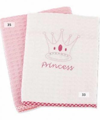 Βρεφική Κουβέρτα Πικέ Αγκαλιάς (bebe) PRINCESS 35 ΡΟΖ της DIMcol