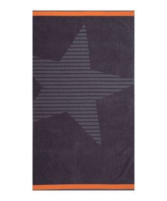 Βελουτέ Πετσέτα Θαλάσσης SUPER NOVA της NEF-NEF (80x160) ANTHRACITE