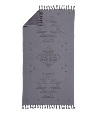 Πετσέτα Θαλάσσης - Παρεό (2 όψεων) PLASMA της NEF-NEF (90x170) GREY