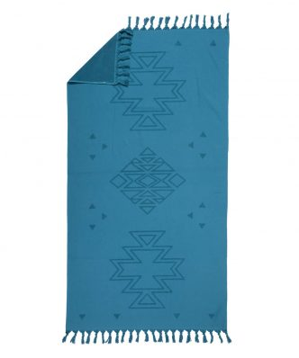 Πετσέτα Θαλάσσης - Παρεό (2 όψεων) PLASMA της NEF-NEF (90x170) DENIM