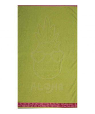 Παιδική Πετσέτα Θαλάσσης PINEAPPLE DREAM της NEF-NEF (70x120) LIME
