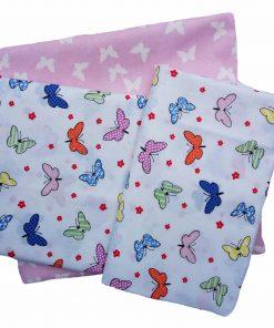 Βρεφικά (Bebe) Σεντόνια Κούνιας Butterfly 50 της DIMcol (120x160) Multi Pink